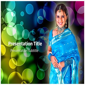 Women In Saree Powerpoint Template - Women In Saree Powerpoint (PPT) Template