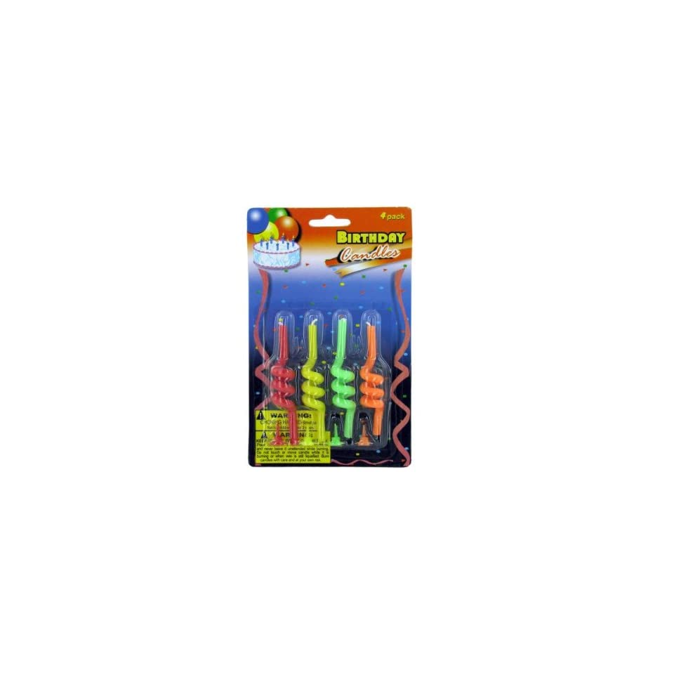 Bulk Pack Of 96 Spiral Birthday Candles Each By Buys