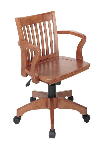Wood Bankers Desk Chair