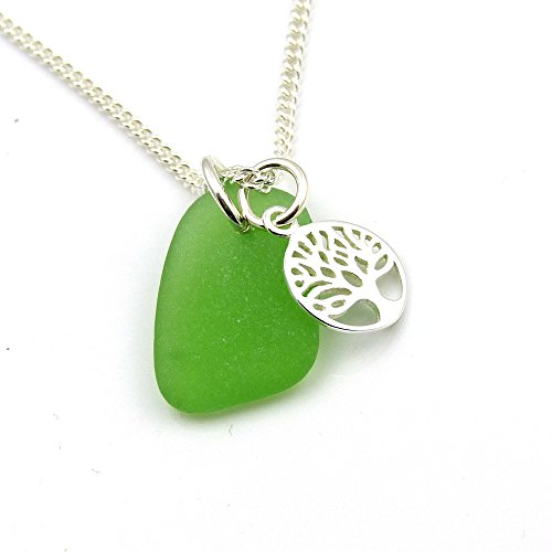 emerald-green-sea-glass-and-sterling-silver-tree-of-life-charm-necklace-c151