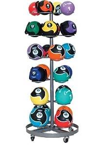 Champion Sports 24 Medicine Ball Rack