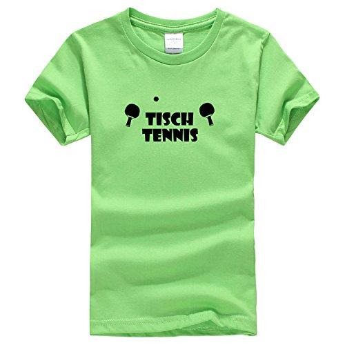 Dealong boys popular ping pong rally T shirt Small light green [parallel import goods]