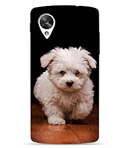 Case Cover Dog Printed Multicolor Hard Back Cover For LG Google Nexus 5