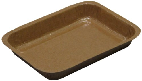 "Solut 91136 Kraft Paper Entree 1/8 Sheet Baking Tray, 20-Fluid Ounce Capacity, 8.31"" Length X 6.03"" Width X 1.13"" Height, Natural (Case Of 360)"