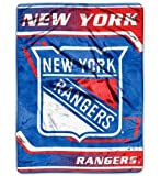 Caseys Distributing 8791877618 New York Rangers 60 in. x 80 in. Royal Plush Raschel Throw Blanket