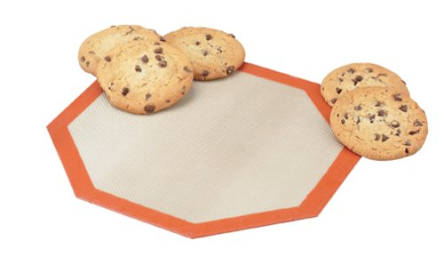 Silpat Non-Stick Silicone Microwave Baking Mat, 10.25-Inch Diameter Octagon