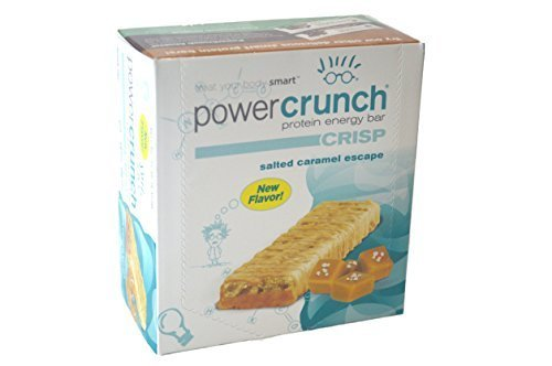Bio nutritional Research Group Power Crunch Crisp Salted Caramel Escape Bar, 12 Count by Bio Nutritional
