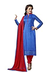 Mantra Fashion New Designer Embroidery Long A-Line Salwar Suit - B016F7ZX76