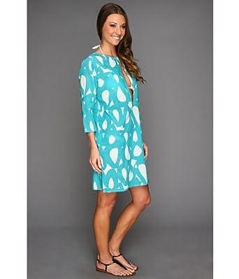Echo Design Women's Mambo Circles Keyhole Tunic, Turquoise, Medium