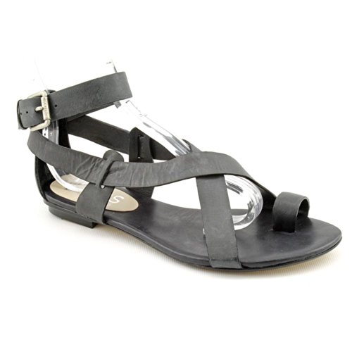 Kors Michael Kors Zeehan Womens Size 7.5 Black Leather Gladiator Sandals Shoes