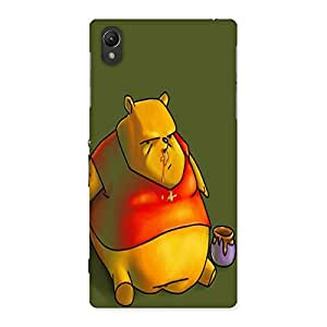 Ajay Enterprises Painted Lazy Bear Back Case Cover for Sony Xperia Z1
