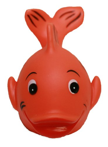 Rubber Ducks Family Rubber Gold Fish, Waddlers Brand Bathtub Rubber Toy That Floats Upright, All Depts. Rubber Gold Fish Birthday Baby Shower Christmas Stocking Stuffers Pet Lovers Gift front-52908