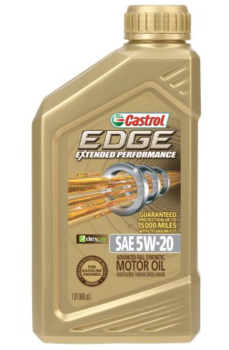 Castrol 06242 EDGE 5W-20 Extended Performance Synthetic Motor Oil - 1 Quart Bottle, (Pack of 6) (Castrol Synthetic Engine Oil compare prices)