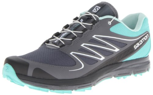 Salomon Women's Sense Mantra 2 W Trail Running Shoe,Softy Blue/Grey Denim/Dark Cloud,9 M US