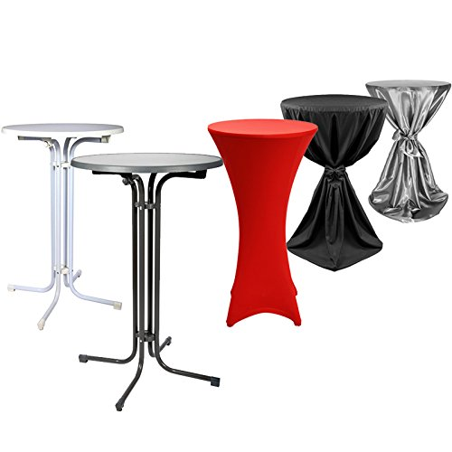 Ensemble Complet Table Haute De Bistrot Mange Debout Housse Stretch 60cm Disponible En