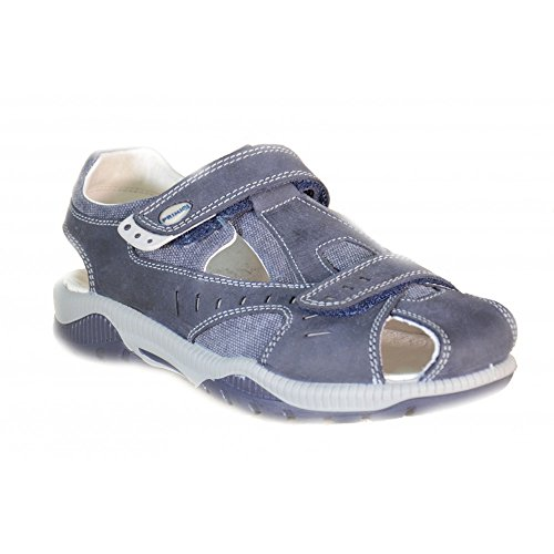 Primigi - Primigi Sandaletti Bambino Blu Pelle Tela Strappi 69410 - Blu, 28