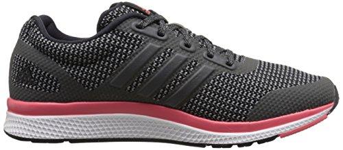 Adidas Performance Women's Mana Bounce Running Shoe,Black/Vista Grey/Prism Blue,10 M US