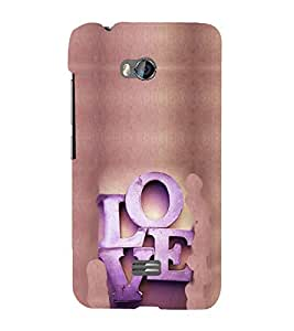 EPICCASE Love Mobile Back Case Cover For Micromax Q336 (Designer Case)