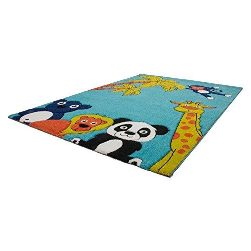 Kinderteppich tiere  Zootiere Hochwertiger Kinder Teppich Kinderteppich mit Tiermotiv ...