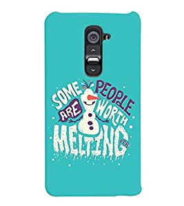 printtech Melting Quote Back Case Cover for LG G2::LG G2 D800 D980