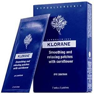 Klorane Smoothing and Relaxing Patches for Tired Eye with Cornflower, 54 Count