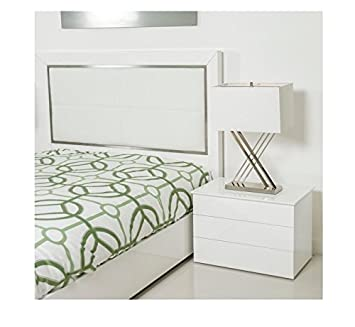 Matrix Kompany Contemporary Metal Lift-top Hidden Storage 2-drawer Nighstand