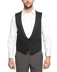 Suitltd Men's Slim Fit Waistcoat (VT0017_Black_X-Small)