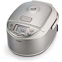 Tiger JAY-A55U-CU 3-Cup (Uncooked) Micom Rice Cooker and Warmer, Stainless Steel Silver