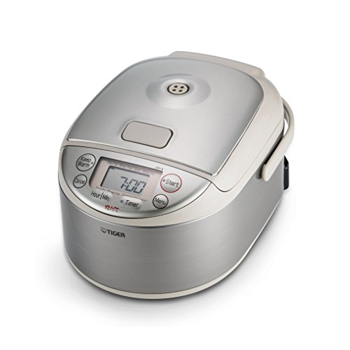 Tiger JAY-A55U-CU 3-Cup (Uncooked) Micom Rice Cooker and Warmer, Stainless Steel Silver (Rice Cooker Tiger Made In Japan compare prices)