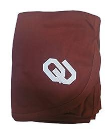Oklahoma Sooners Colored NCAA College Newborn Infant Baby Blanket 33\