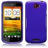 Htc One V Purple High Quality Soft Tpu / Gel Case Cover Skin Plus Screen Protector & Screen Polishing Cloth