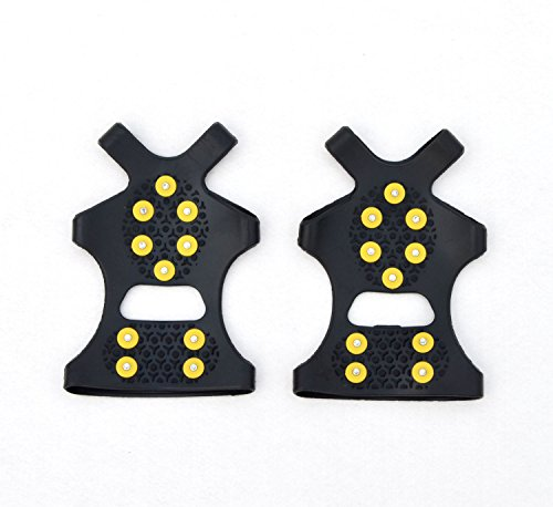 Unisex High Quality Anti Slip Shoe Grips, Ice Cleats, Spikes & Snow Gripper, Boots Snow Cover(Size:Small)