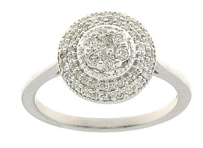 Exclusive 18 ct White Gold Ladies Fancy Diamond Ring Brilliant Cut 0.50 Carat Size P
