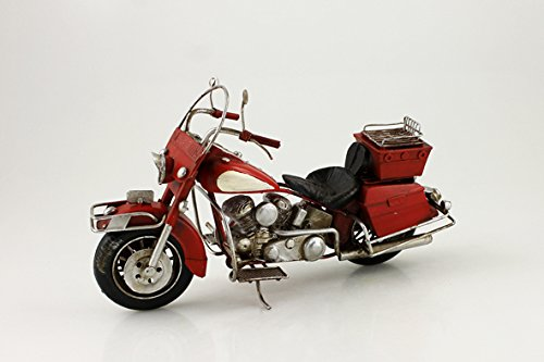 The Model-Metal Motorcycle with Saddle - 28 x 11 x 15 cm