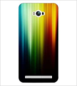 PrintDhaba Rainbow Colours D-2276 Back Case Cover for ASUS ZENFONE MAX ZC550KL (Multi-Coloured)