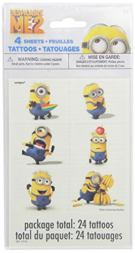 Despicable Me Tattoo Sheets, 4ct