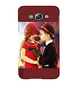 Omnam Cute Little Boy Giving Rose To Girl And Proposing Her Printed Back Cover Case For Samsung Galaxy E5