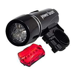 Finejo Waterproof Led Bike Bicycle Head Light+ Rear Flashlight Shipping By Eub With Tracking Number. Arrived Within 10~14 Business Days!