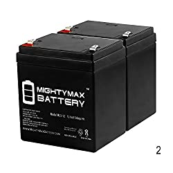 12V 5AH UPS Battery for BELKIN F6H375 -USB Battery - 2 Pack - Mighty Max Battery brand product