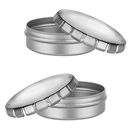 Small round silver metal tins 1 oz containers for crafts for Small tin containers