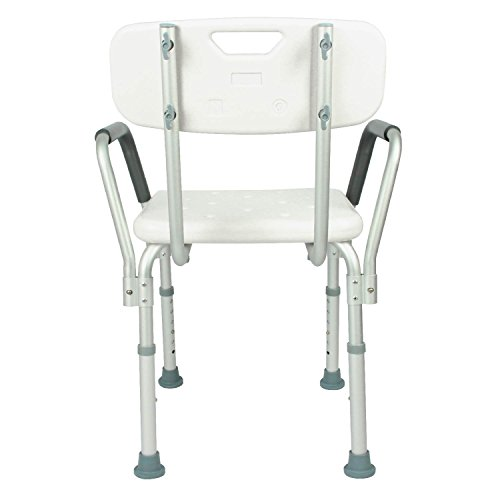 shower chair with back by vive u2013 bathtub chair w arms for handicap disabled seniors u0026 elderly u2013 adjustable medical bath seat handles for bariatrics u2013 non