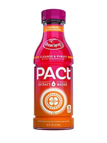 PACt Water, Blood Orange, Power of 50 Cranberries, Naturally Sweetened 10 Calories per 16 Ounce Bottle (Pack of 12) (Extract Naturally compare prices)