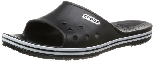 Crocs Unisex-Adult Crocband Slide Low Profile Thong Sandals 15692-001-720 Black 12 UK, 46 EU, 12 US, Regular