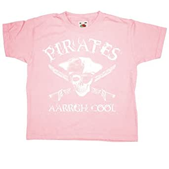 Refugeek Tees - Enfants Pirates Aarrgh Cool T Shirt - 1-2 years - Pink
