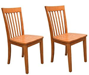 Set of 2 heavy duty solid wood maple finish for Heavy duty dining room chairs