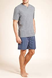 Pure Cotton Nautical Woven Stripe Shorties [T07-1868-S]