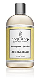 Deep Steep Classic Bubble Bath, Lemongrass Jasmine, 17 Fluid Ounce