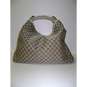 Gucci Handbags Beige - Cream Chain Hobo Horsebit 114900 - PRICE REDUCED