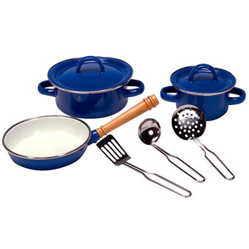 kids enamel cookware set this 5 piece enamel cookware set of quality ...