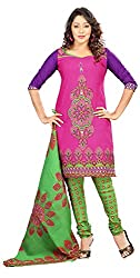 AAINA Women's Poly cotton Unstitched Dress Material (Pink)